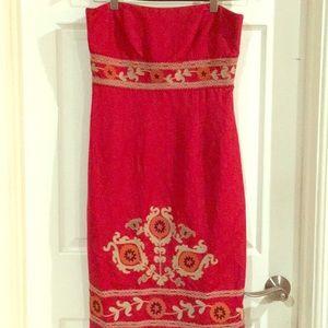Yves Cossette Depeche Mode Red dress size 10